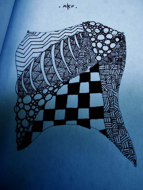 Zentangle created at Prospect Park.
