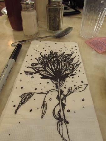 Drawn at Mega Bites Diner
