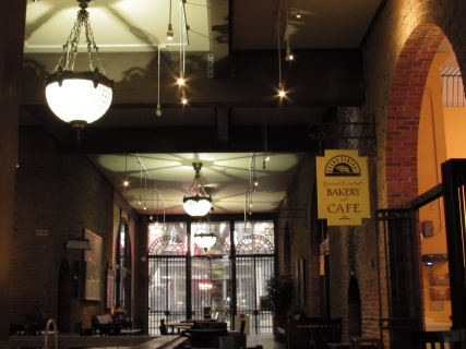 In an old brick railway arcade lies the Grand Central Cafe